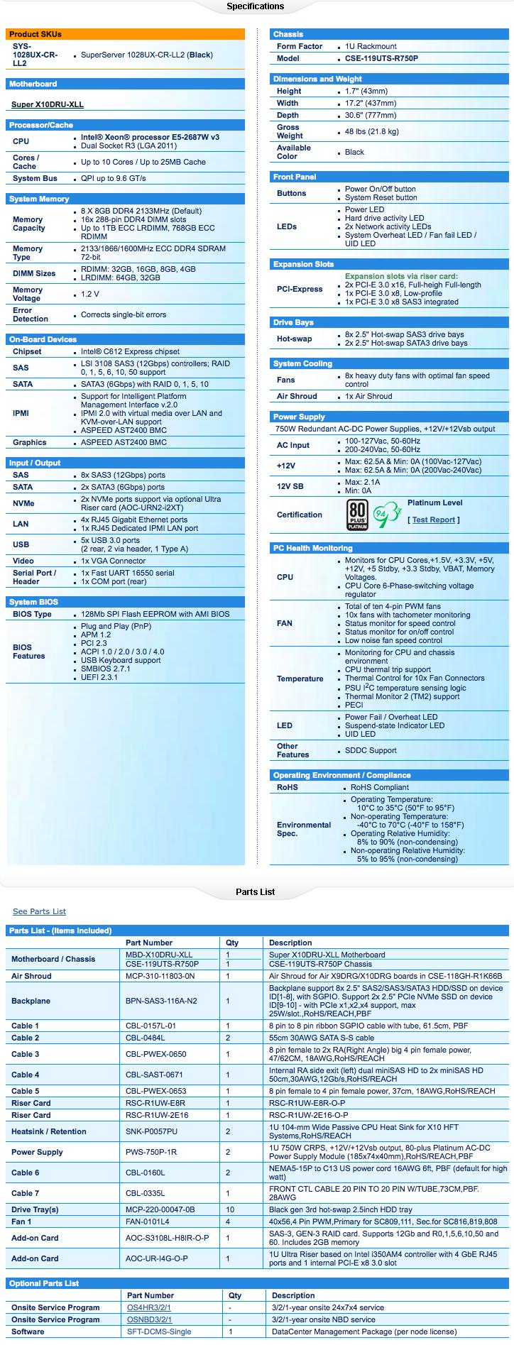 SYS-1028UX-CR-LL2